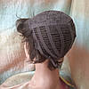 Парик из натуральных волос стрижка короткая каштановый 3771HH-6, фото 8