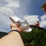 Жіночі літні шльопанці Givenchy (біло-сріблясті) 50008, фото 2