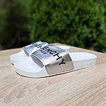 Жіночі літні шльопанці Givenchy (біло-сріблясті) 50008, фото 3