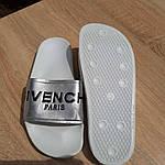 Жіночі літні шльопанці Givenchy (біло-сріблясті) 50008, фото 9