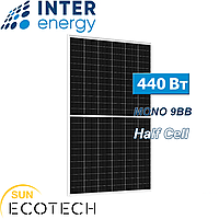 Сонячні батареї InterEnergy IE158-72M-H-440W, 9BB, Half Cell, монокристал