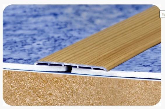 """Стыкоперекрывающий полукруглый алюминиевый порог с открытой системой монтажа """"Модель ПА 80"""""""