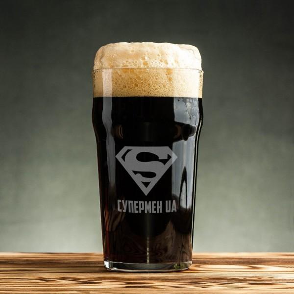Бокал для пива Супермен UA 500 мл (7047)