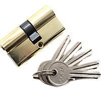 Сердцевина для замка ключ-ключ 60мм цинк PB, 5 ключей, цилиндровый механизм
