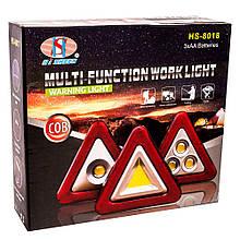 Фонарь-знак аварийной остановки модель 8017, прожектор LED многофункциональный