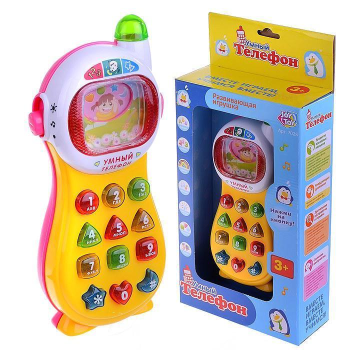 Умный телефон (желто-голубой) Play Smart