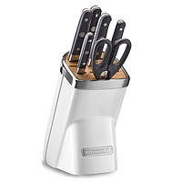 Набор ножей KitchenAid 7 предметов (6+1) морозный жемчуг KKMA07FP