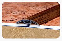 """Стыкоперекрывающий полукруглый алюминиевый порог со скрытой системой монтажа """" Модель ПА(С) 30"""", фото 1"""