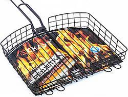 """Решетка для барбекю Kamille """"Скаут"""" 30.5х23.5х5.5 см"""
