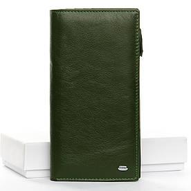 Кошелек Classic кожа DR. BOND WMB-3M dark-green