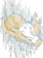 Картина для вышивки нитками размер А4 Счастье на ладони Ркан 4025
