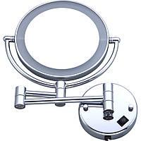 Зеркало косметическое HS-519 настенное, LED подсветка, 3х кратное увеличение, фото 1
