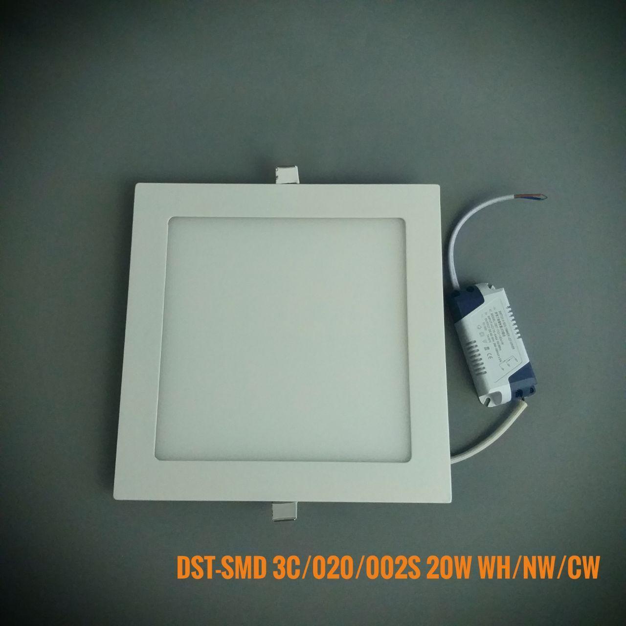 Светодиодная панель квадрат врезной DST-SMD3C/020/002S WW/NW/CW 20W