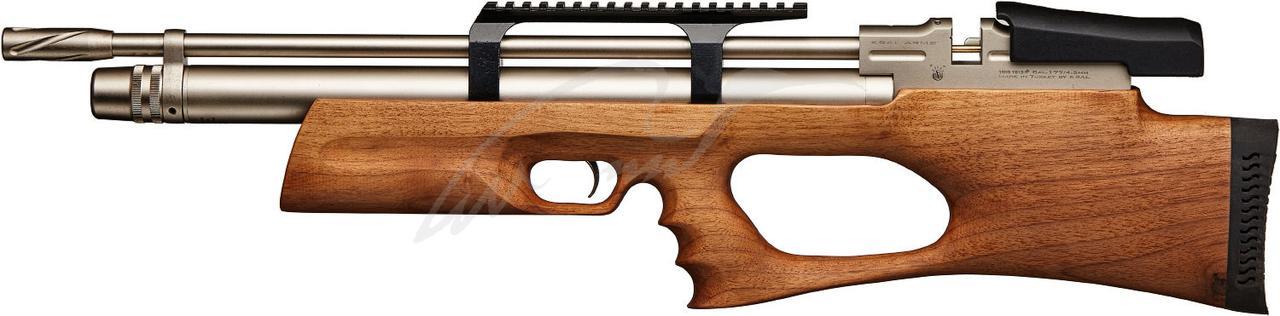 Пневматична гвинтівка PCP Kral Breaker Marine Wood 4.5 мм 20.5 Дж з глушником коричневий
