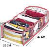 Гибкий органайзер для хранения футболок, боди, регланов М (розовый), фото 2