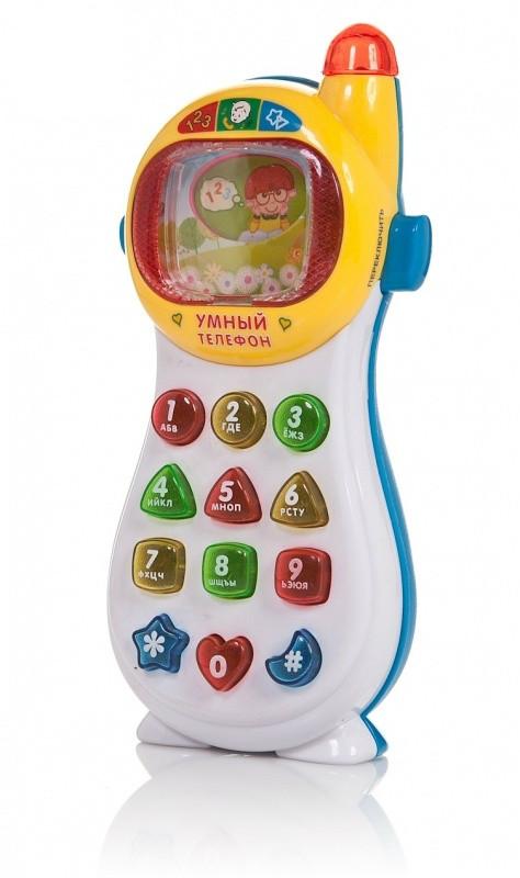 Умный телефон (бело-синий) Play Smart