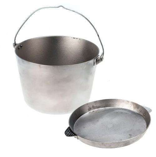 Казан походный с крышкой-сковородкой Polimet 10 л