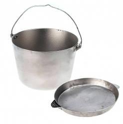 Казан похідний з кришкою-сковорідкою Polimet 10 л