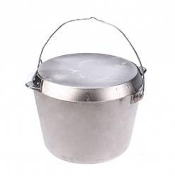 Казан похідний з кришкою-сковородою Polimet на 12 л