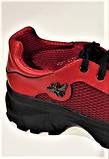 Жіночі кросівки червоні літні шкіряні, фото 2