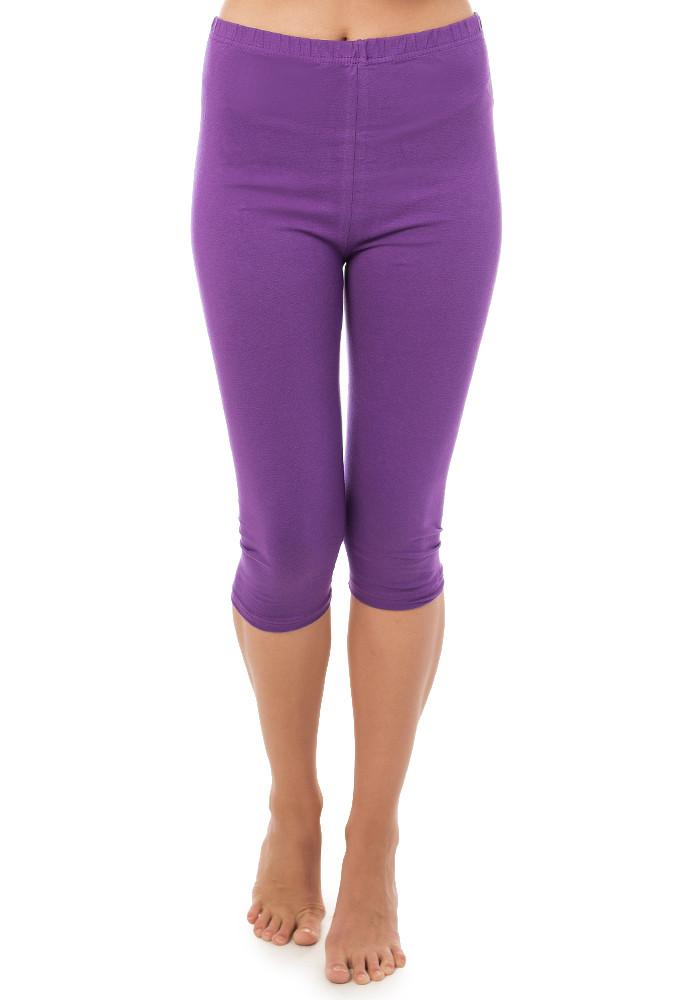 Бриджі жіночі бавовна розмір 2XL (48-50) фіолетові