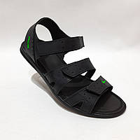 Мужские кожаные сандалии в стиле Nike отличного качества