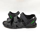 41,42,43,44 р. Чоловічі шкіряні сандалі в стилі Nike відмінної якості, фото 4