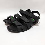 41,42,43,44 р. Чоловічі шкіряні сандалі в стилі Nike відмінної якості, фото 6