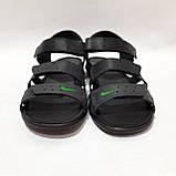 41,42,43,44 р. Чоловічі шкіряні сандалі в стилі Nike відмінної якості, фото 3
