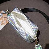 Женская голографическая сумка через плечо детская сумочка LITTLE BEAUTY красная, фото 4