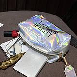 Женская голографическая сумка через плечо детская сумочка LITTLE BEAUTY красная, фото 7