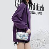 Женская голографическая сумка через плечо детская сумочка LITTLE BEAUTY красная, фото 9