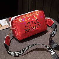 Женская голографическая сумка через плечо LITTLE BEAUTY красная