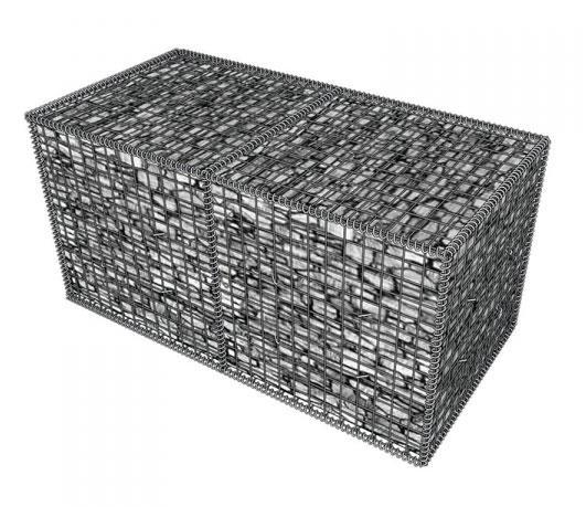 Габион металлический прут, горячий цинк Ш*В*Д 0,3*1,0*0,3 м, толщина 4 мм