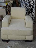 Перетяжка светлого кресла на заказ Днепр., фото 1