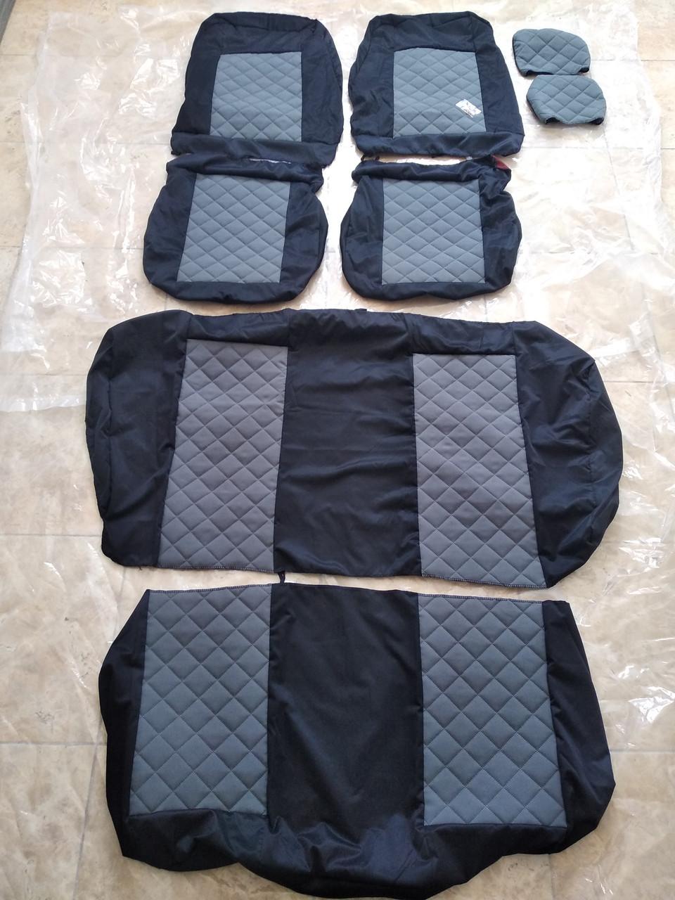 Чехлы LUX ВАЗ VAZ 2108/2109/21099/2113/2114/2115 серый центр