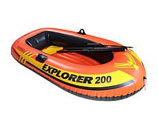 Надувная Лодка INTEX EXPLORER 58331 весла, насос, 185х94х41см
