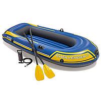 Intex Двухместная надувная лодка 68367 NP Challenger 2 Set, 236 х 114 х 41 см, с веслами и насосом