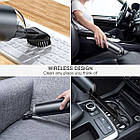Автомобильный пылесос BASEUS на аккумуляторе  65W, 2000 mAh  Мини пылесос с аккумулятором, фото 3