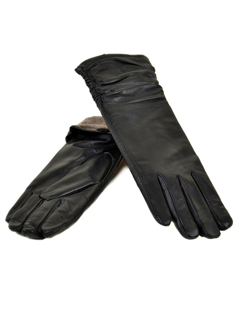 Перчатка Женская кожа F31/17 331 33см black шерсть Распродажа