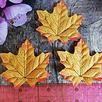 Лист заготовка 9,5*9,5см. 1шт. Цвет оранжевый