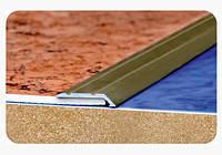 """Стыкоперекрывающий разноуровневый алюминиевый порог """"Модель ПАУ 23.10"""", фото 1"""