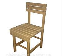Детский деревянный стульчик для детей со спинкой (высота стула 53 см)