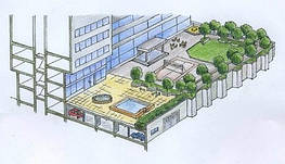 Сады на крышах от Ландшафтной Мастерской