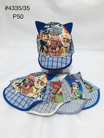 Летняя панамка кепка для мальчика Щенячий патруль р.50, фото 2
