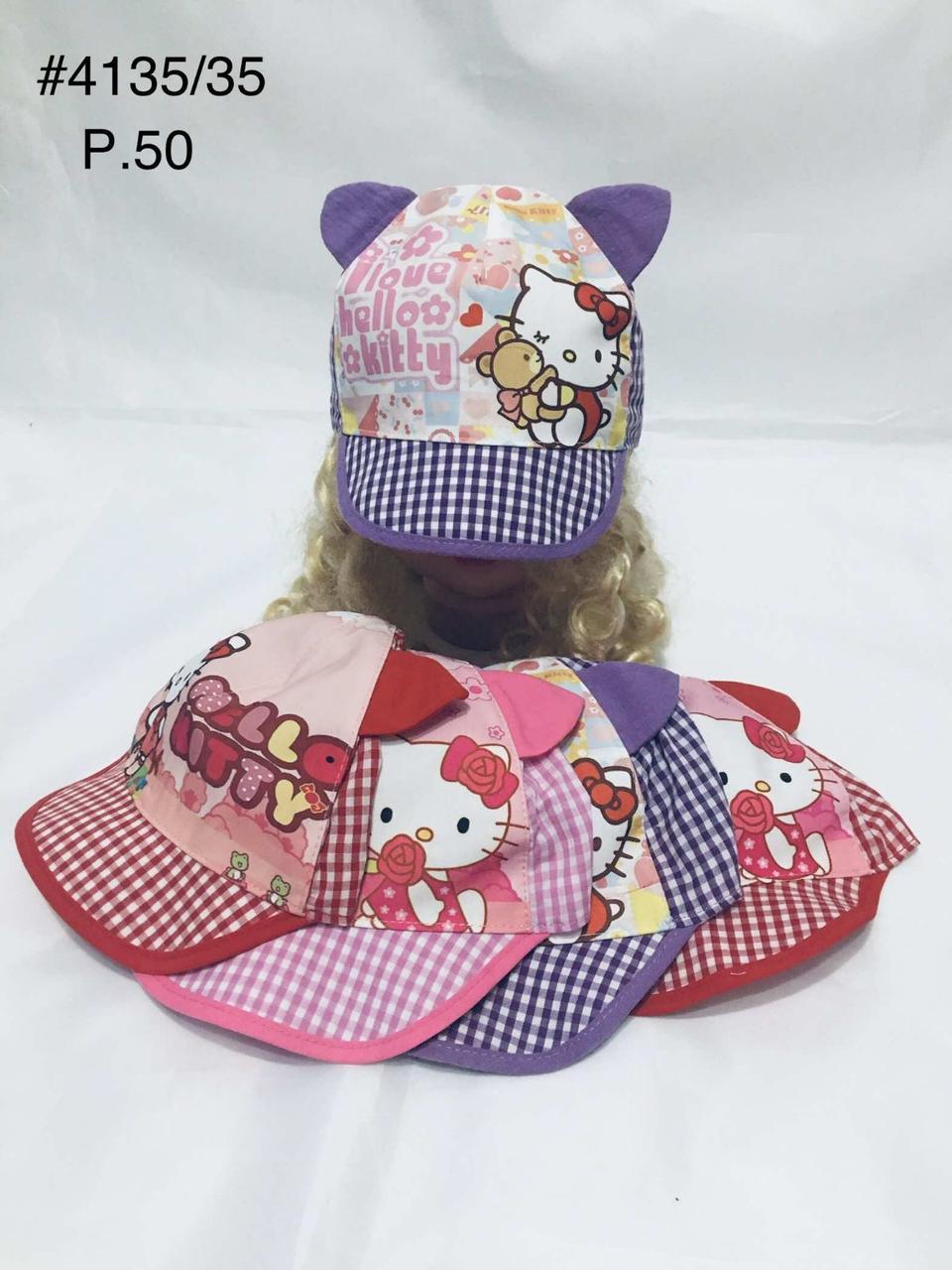 Летняя панамка кепка для девочки Hello kitty  р. 50