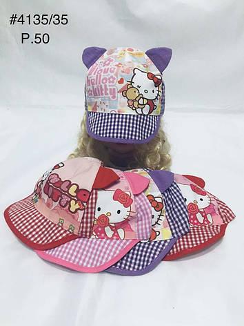 Летняя панамка кепка для девочки Hello kitty  р. 50, фото 2