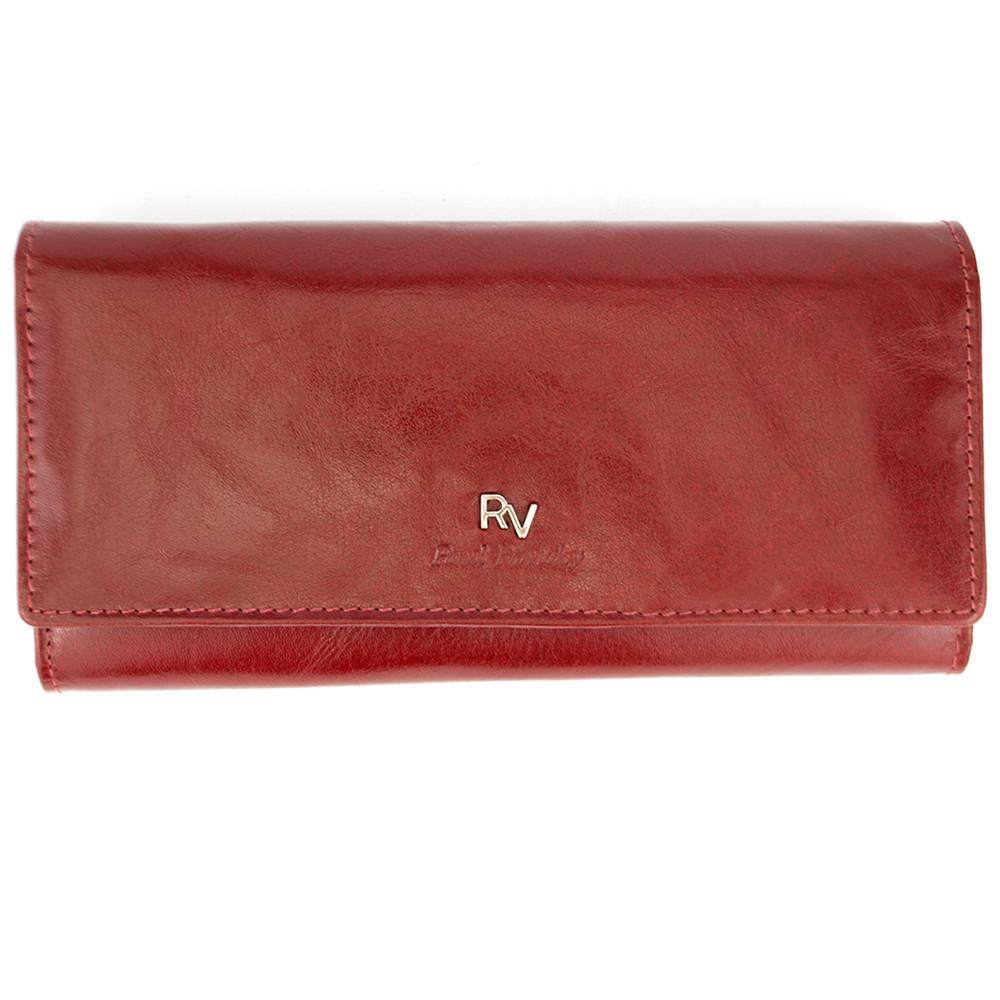 Кошелек женский кожаный на кнопке красный Rovicky RV-7680155-9/8787