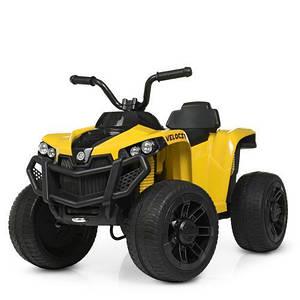 Детский квадроцикл Bambi M 4229EBR-6 колеса Eva TF желтый