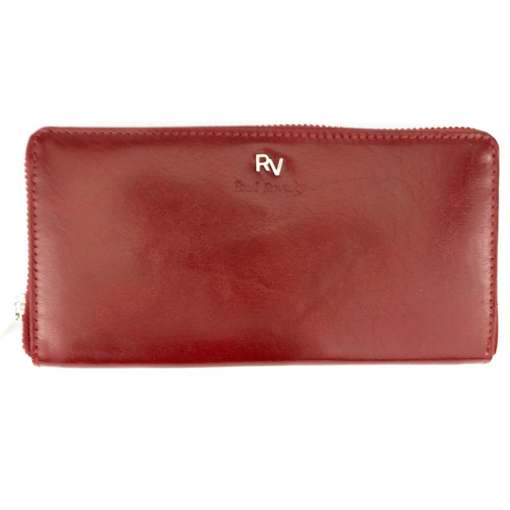 Кошелек женский кожаный на молнии Rovicky RV-7680188 красный